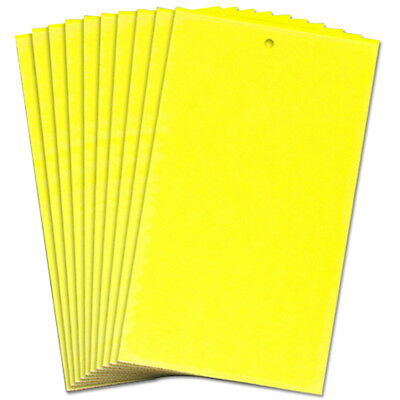 10pc Large Sticky Insect (24x20cm) Catch Greenhouse Yellow Traps Flying Pests UK