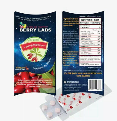 miracle Berry Tablets Fruit Berry Plant mBerry  / Synsepalum Dulcificum UK Stock