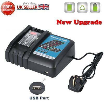 New Genuine DC18RC 7.2-18V Compact Li-Ion Fast Battery Charger For Makita