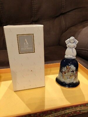 "Avon 1992 Porcelain Christmas Bell ""Avon Heavenly Notes"""
