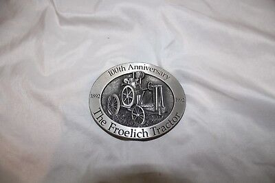 1992 100th Anniversary John Deere, The Froelich Tractor Belt Buckle, Fine Pewter