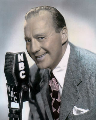 """JACK BENNY HOLLYWOOD ACTOR, COMEDIAN 8x10"""" HAND COLOR TINTED PHOTOGRAPH"""