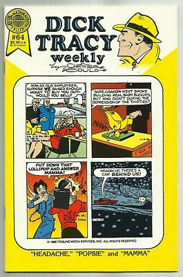 DICK TRACY WEEKLY #64 (Chester Gould, Stories from 1958) Blackthorne, 1988