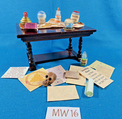 Artist Dolls House Dollhouse Tudor Fairy Witch Wizard Haunted Magic Lot MW16