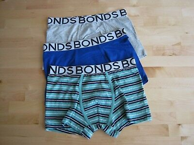 Pack of 3 Men's Bonds Underwear Faves Trunk Boxer Brief