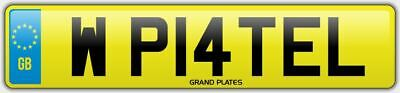 Patel NUMBER PLATE ASIAN SURNAME PATELS W PATEL WP14 TEL NO ADDED FEES CAR REG
