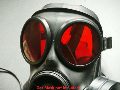 S10 Gas Mask Lenses Rubber Outserts Red Lenses Genuine