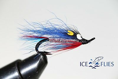 Salmon Fly,Stekkur blue , Double Hook. (3-pack) Pick a size. Fly Fishing Fly