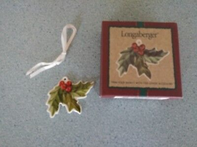 Longaberger Christmas Holiday American Holly tie on  New in box