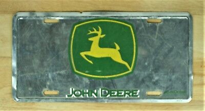 John Deere Metel Front Novelty License Plate Car Tag 1597
