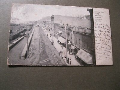 Vintage Postcard Birds Eye View Princeton Avenue East BLUEFIELD WV June 28 1909
