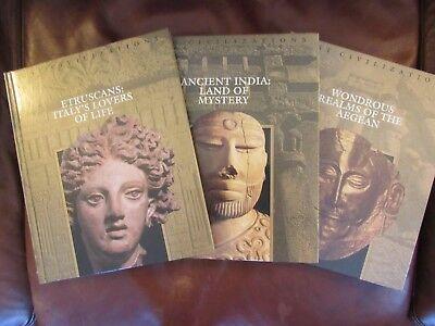 Time Life Books Lost Civilizations 3 Lot Volumes - Etruscans, India, Aegean
