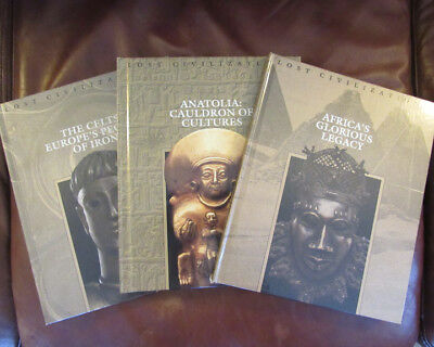 Time Life Books Lost Civilizations 3 Lot Volumes - Celts, Africa, Anatolia