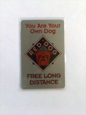 1995 RED DOG Limited Edition 5 Minute Phone Card NEW #2