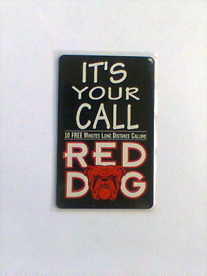 1995 RED DOG 10 Minute Phone Card NEW from CDG
