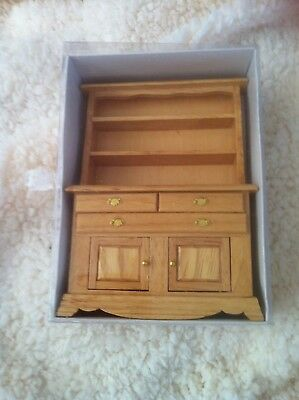 Dolls House 1:12th Scale Wooden Welsh Dresser