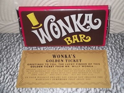 Willy Wonka Bar Golden Ticket Kuhlschrank Magnet Schokoladenriegel