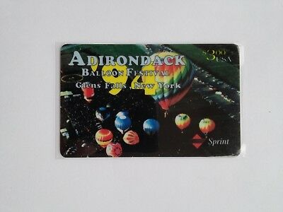 1994 Sprint ADIRONDACK BALLOON FESTIVAL Limited Edition $3 Phone Card NEW