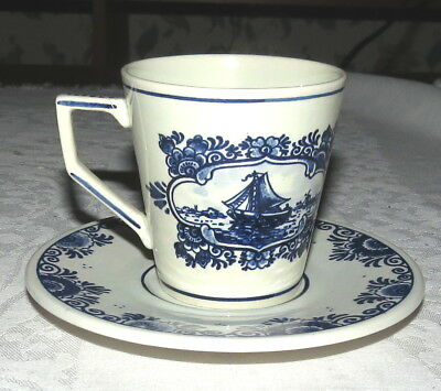 Delft Blue Cup & Saucer - handpainted in Holland