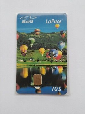 1997 Bell Canada LaPuce HOT AIR BALLOONS $10 Unit Chip Phone Card NEW