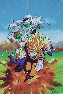 Poster A3 Dragon Ball Z Goku Vegeta Trunks Piccolo Manga Anime Cartel 02