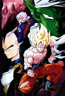 Poster A3 Dragon Ball Z Goku Vegeta Trunks Piccolo Manga Anime Cartel 01