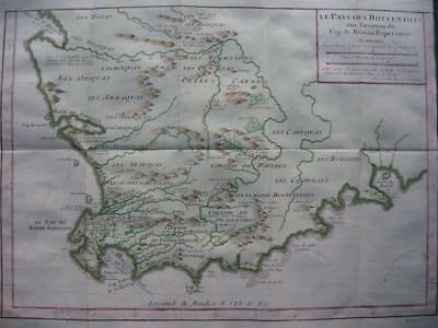 1749 - BELLIN - SOUTH AFRICA  Map LE PAYS DES HOTTENTOTS