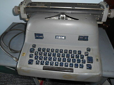 Antique Early 1900's Electric IBM Typewriter Works