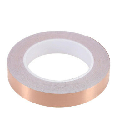 50M EMI Foil Shielding Conductive Self Barrier Copper Tape Adhesive Mask New UK