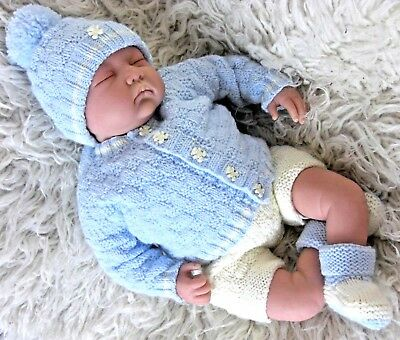 dk knitting pattern to knit modern baby boys cardigan hat shorts booties easy