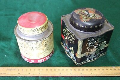 two tea tins