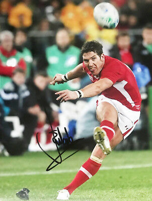 Signed James Hook Photo - Authentic Wales Rugby Autograph + *certificate*