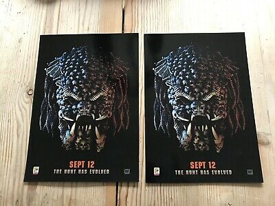 2X Predator ODEON A4 Glossy Posters - Comic Con International 2018 Exclusive