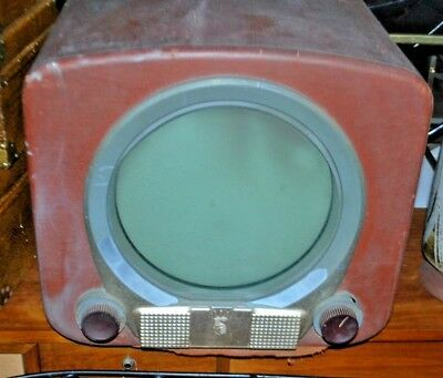 1950s Zenith Porthole H2227R-22H20 Sold As Is For Parts/Restoration Powers On
