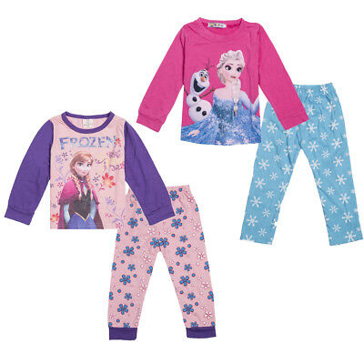 Kids Baby Girl Frozen Elsa Pajamas Set Nightwear Sleepwear Pyjamas Pjs Outfit US