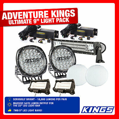 "Adventure Kings 4WD Offroad Driving Light Set Inc 9"" Driving Light Pair, 22"" LED"