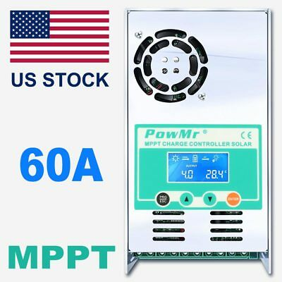 60A MPPT Solar Charge Controller For 12V 24V 36V 48V DC Acid And Lithium Battery