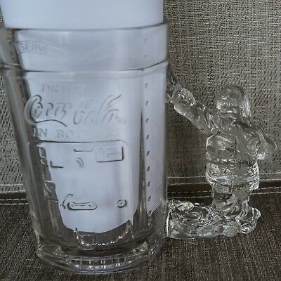 COCA COLA Glass MUG SANTA HANDLE Logo COKE VENDING MACHINE 3-D ~ MINT
