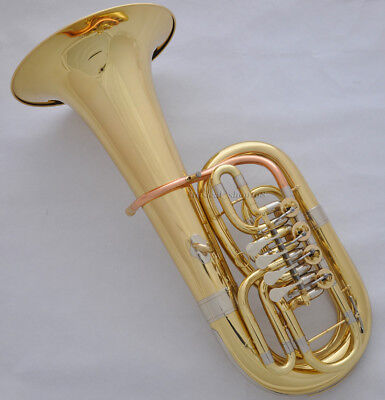 Professional Gold C/Bb 4 key Rotary valve Euphonium horn 300mm bell with case