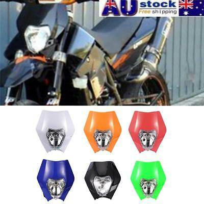 AU Motorcycle Dirt Bike Motocross Supermoto Universal Headlight Headlamp KTM