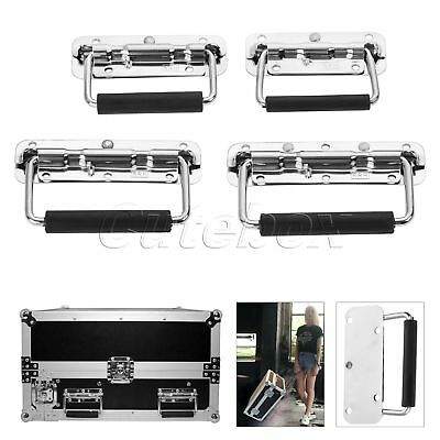 Boxes Case Chest Handle Spring Folding Puller Trunk Drawer Metal Rubber Box Grip