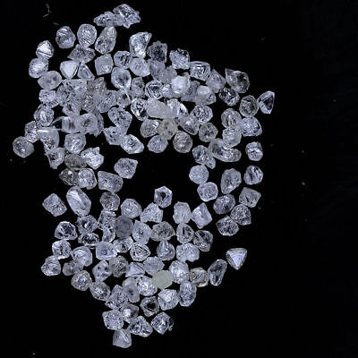 .Awesome Natural Loose Rough Rare White Color 1.00 Ct Translucent Daimond Lot