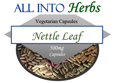 Nettle Leaf Certified Organic Vegetarian Capsules QTY 20 - 200