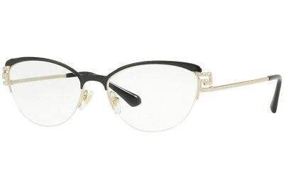 7b997b75a52f New Versace VE1239B 1291 RX-able Eyeglasses Frames Blalck Gold 53mm 53-17  Italy