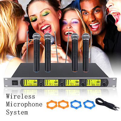 GTD Audio 4 x 800 Channel UHF Diversity Wireless Handheld Microphone Mic System