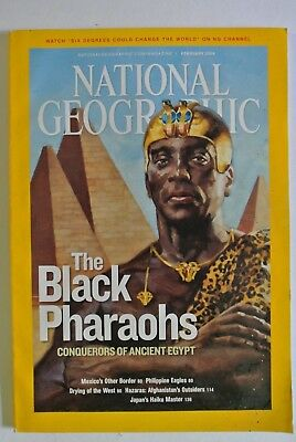 National Geographic Magazine. February, 2008. The Black Pharao hs Ancient Egypt.