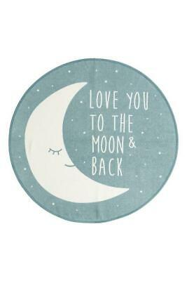 H&M Kid Rug Love You To The Moon and Back, Kids Home Decor Round Rug