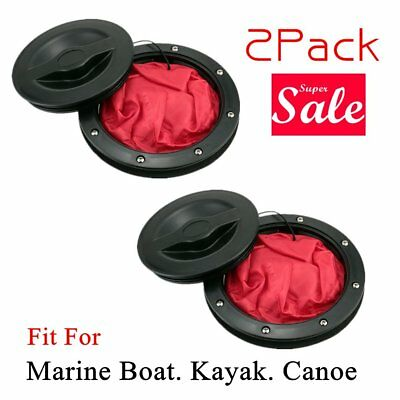 """2pcs 6/"""" Pull Out Hatch Cover Deck Plate/& Waterproof bag for Boat Kayak Canoe"""