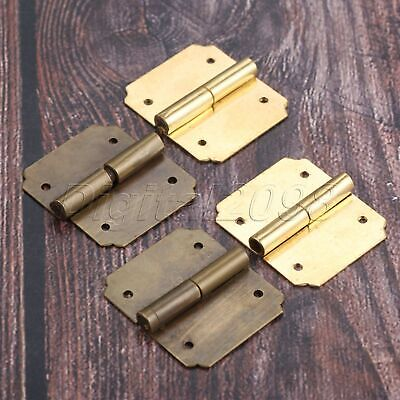 2Pcs Vintage Butt Hinges Furniture Decorative Hinges Jewelry Cigar Box Chest DIY