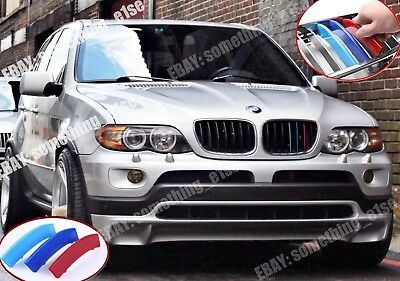 BMW X5/E53 2004-07 Grille M power/motorsport tri-Color Cover/Cap/Clip/strip/trim